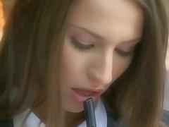 brunette sjarmerende european milf blonde babe lærer ass vakker utrolig