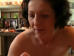 Rocco Siffredi is the almost all famous male pornstar on Earth, and he has many fans. Suck as this mature lady, who tries to give him as more pleasure as she can!