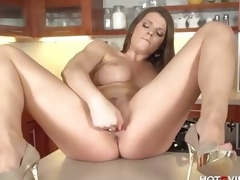 Busty Milf Mona Lee plays with her pussy